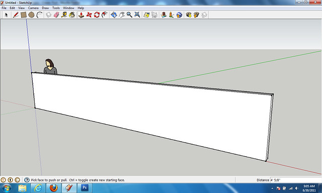 Drawing walls with sketchup