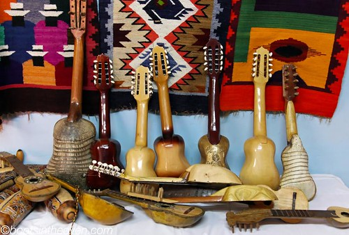 Instruments made from armadillos... or wood