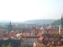 Prague Rooftops, April (ancoras) Tags: red skyline photography europe republic rooftops czech prague roofs