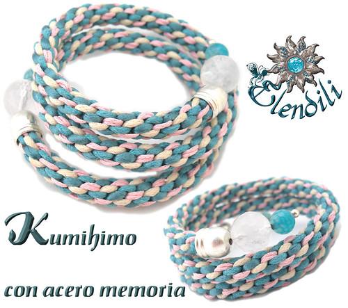 Pulsera kumihimo con acero memoria by **Elendili**