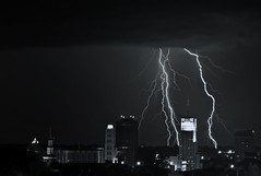 (miche11) Tags: city ohio storm night lightening akron