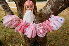 DSC_0046 (Lindy Dolldreams) Tags: blythedoll sweetcrate lindydolldreams sewing pink dresses handmade doll