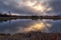 Reflections (marko.erman) Tags: intermittent sunrise morning water refelction reflections beautiful seren serenity calm nature sun mood moddy mist misty slovenia slovenija sony silhouette trees cerknica lake sky