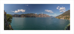 Lake Garda (andyrousephotography) Tags: italy lakegarda castelloscaligero castle viewpoint landscape panorama pano limonesulgarda limone rivadelgarda riva sunny sunshine clouds bright blue sky canon eos 5d mkiii