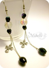 Black & White crosses (Miblli) Tags: white black silver cross earrings