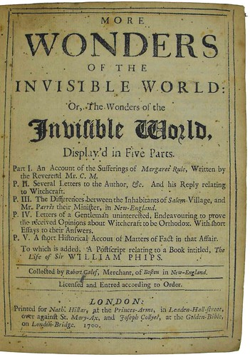 Title page of More wonders of the invisible world