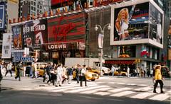 Times Square, New York (hobbitbrain) Tags: nyc newyorkcity usa ny newyork manhattan virgin barcode pepsi planethollywood britney loews britneyspears mammamia