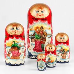 Winter Romance Matrioshka Doll (The Russian Store) Tags: matrioshka matryoshka russiannestingdolls  stackingdoll  russianstore  russiangifts  russiancollectibledolls shoprussian