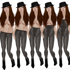 Glossy Tights by Miss S. - Second Life (Pixel Panties on Parade) Tags: hat fashion tattoo blog tights lingerie sl secondlife brunette pantyhose nylons blackboots misss pixelpantiesonparade pantyprincess