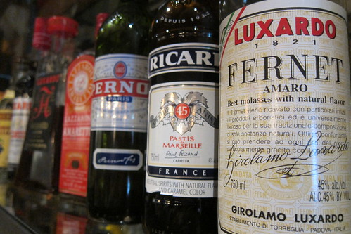 Sotto: Luxardo Fernet + Assorted Liquors