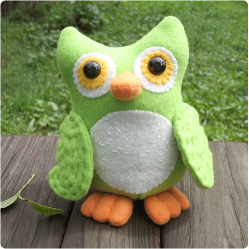 Owl Plushie by Gleeful Things