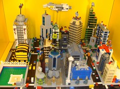 Microville Bird's Eye View (notenoughbricks) Tags: nyc lego explore queens micro legostore elmhurst micropolis ilugny lugshowcase