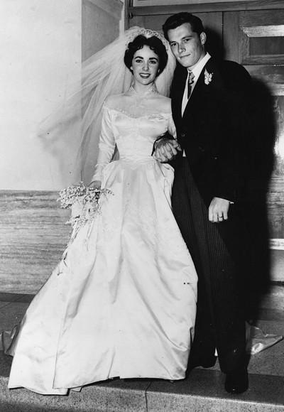 liz taylor to conrad hilton 1950