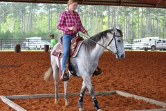 Clinton Arena Horse Show 16/30 (Marsh, D.) Tags: show horse woman phoenix lady nikon louisiana barrels clinton gray arena trail riding western poles rider equine equus quarterhorse placed participating greymare d3000 deesnke marshd