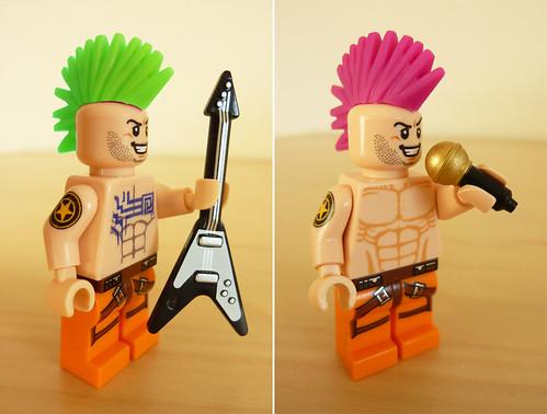 Custom minifig Punk Rock custom minifigs