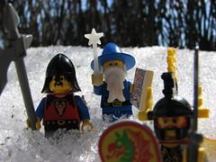 Dragon Masters (s.kosoris) Tags: snow macro castle yard canon lego wizard knights hedge knight minifig frontyard minifigure s3is canonpowershots3is majisto dragonmasters skosoris