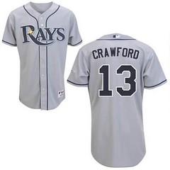 Tampa Bay Rays #13 Carl Crawford Grey Road Jersey (Terasa2008) Tags: jersey tampabayrays  cheapjerseyswholesale cheapmlbjerseys mlbjerseysfromchina mlbjerseysforsale cheaptampabayraysjerseys