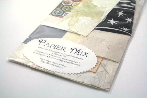 Papiermix in Naturfarben