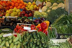 Veggies in Bologna market