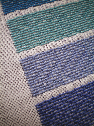 Stitched series: Embroidered Blues
