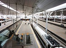 TIANJIN STATION, CHINA'S NEW TRAINS (roberthuffstutter) Tags: china satire politicalsatire leaders opinions billofrights passengertrains highspeedtrains rightorwrong newtrains billofwrongs chinastrains chineseprogress usatrainsvschinastrains comparingusaandchina billofrightsandwrongs
