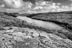 Lake of the Clouds Monochrome (Neil Weaver Photography) Tags: statepark trees blackandwhite up landscape michigan upperpeninsula escarpment porcupinemountains lakeoftheclouds michiganradio