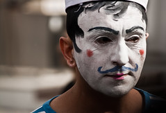 (ssj_george) Tags: street carnival blue portrait people white man face make up hat canon lens eos rebel is shot painted makeup cyprus parade moustache lip stick lipstick sailor xs masked efs eyebrows limassol 2011 limasol f456 lemesos lemessos 55250   55250mm  georgestavrinos  1000d kissf   ssjgeorge mygearandme  giorgosstavrinos