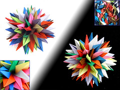 Improved QRSTUVWXYZ Planar (Aneta_a) Tags: collage origami symmetry planar modularorigami icosahedral simplepaper