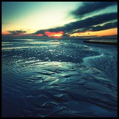 Alt, Crosby (Ianmoran1970) Tags: sunset red orange cloud beach wet sand windfarm ianmoran ianmoran1970