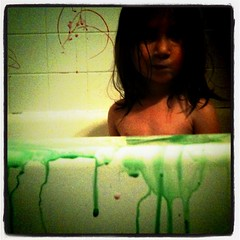 green bath (katyebug22) Tags: green water austin bath drip fluid bathtime eastside liquid crayola austintx gooey ooey