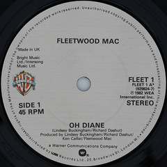 Fleetwood Mac - Oh Diane (Leo Reynolds) Tags: canon eos iso100 ebay vinyl single record squaredcircle 60mm f80 45rpm 7inch 02sec 40d hpexif sqset061 xleol30x vinylebay04 xxx2011xxx