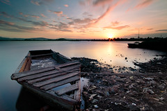 Muddy dock (The Magic Moment) Tags: longexposure sunset canon laguna 1022mm magichour cpl hoya t3i calamba nd400 kenko 600d singhray maykol nd110 michaelzantua