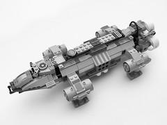 Lego space craft Modular Utility Transport (Felix Golden) Tags: model ship lego eagle hawk space vessel corey modular fi sci lander