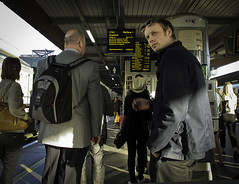 Southbound (Sven Loach) Tags: uk england sun london sunglasses station train canon londonbridge evening early spring waiting ditch britain platform streetphotography passengers commute keep publictransport southlondon overground commuters crayford timetables southbound tfl g12 keep2 keep3 keep4 keep5 keep6 keep7 keep8 keep9 keep10 ditch2