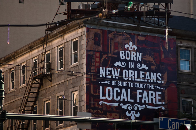 """New Orleans...lives somewhere between its past and its future..."""