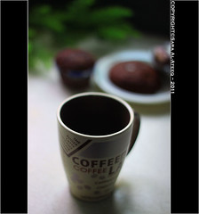 Coffee ! (Sara Al-Ateeq) Tags: black cup coffee 50mm sara mug coffe 2011 canon500d    alateeq