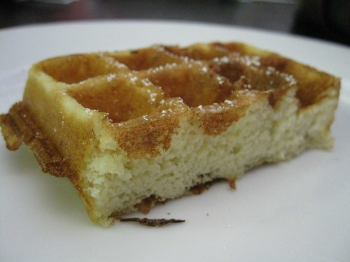 Cross-Section of Crispy Waffle