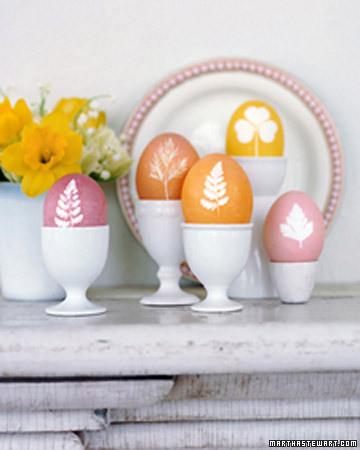 Vajíčka barvená v punčoše