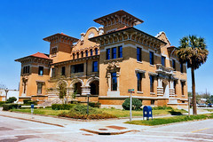 Old Pensacola City Hall (StevenM_61) Tags: brick stone museum architecture florida cityhall 1988 historical pensacola missionstyle governmentbuilding ttwentworthjrmuseum