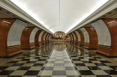 Underground Metro Station. Russia, Moscow. (astikhin) Tags: life city travel people urban signs lamp station horizontal stone wall architecture train underground subway lights hall clothing europe european publictransportation floor metro russia moscow interior capital crowd transport perspective cities rail railway indoor trains journey destination network traveling subwaystation publictransport russian adults eastern travelers commuters stations capitals lifestyles railroadcar passengertrain subwayplatform subwaytrain casualclothing citylocation historicallocation formersovietunion peopletraveling unrecognizableperson