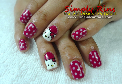 Nail Art Hello Kitty 04