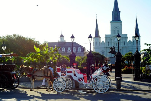 St. Louis Cathedral and Jackson Square in New Orleans