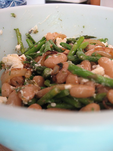 asparagus salad with peruano beans
