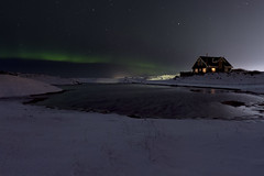 Hvassahraun Northern Lights (V) Tags: lake snow night aurora northernlights snjr vatn bstaur norurljs hvassahraun icelandhvassahraun