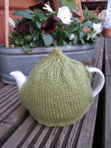 Knitted tea cosie