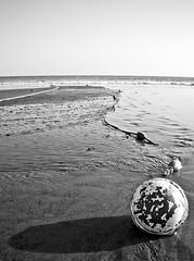 Beach Bhouy (McrMan68) Tags: shadow bw net beach blackwhite fishingnet buoyant bhouy