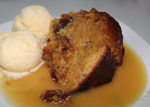Date Pudding, Cream, Sweet, Sticky, Delicious, Oven Cooked, Dessert