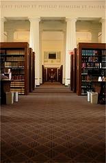 Walk thru the path of books (Sangy23) Tags: school boston architecture university library harvard pillar harvardlaw