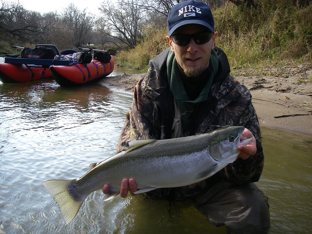 Mike with a chrome steelhead