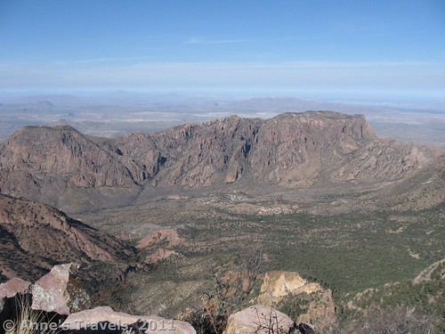 Chisos Basin from Emory Peak, Big Bend National Park, Texas
